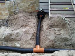 Монтаж дренажной ливневый системы, отвод грунтовых вод