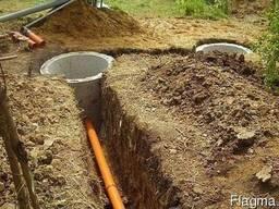 Монтаж канализации. Обустройство дренажного поля, сливных ям
