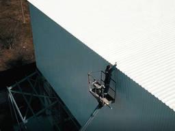 Монтаж кровельного и стенового профнастила от 300 м²