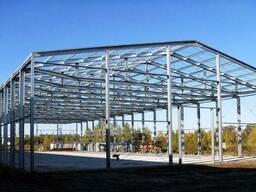 Монтаж металлоконструкций быстровозводимых зданий и. ..
