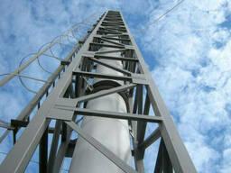 Монтаж металлоконструкций вентиляционных и дымовых труб