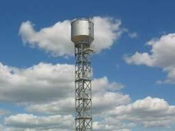 Монтаж металлоконструкций водонапорных башен
