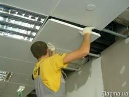 Монтаж подвесного потолка Армстронг в Харькове
