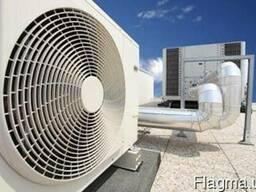 Монтаж промышленной вентиляции.