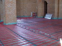 Монтаж системы отопления тёплый пол