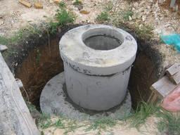 Установка выгребных, сливные ямы копка канализации, септики
