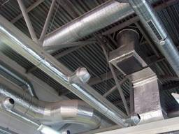 Монтаж вентиляции в административно–бытовом помещении
