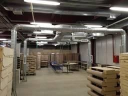 Монтаж вентиляции в складском помещении