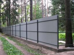 Строительство Заборов из профнастила сетки штакет сайдинг