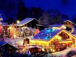 Украшение гирляндами киев, купить новогоднюю гирлянду киев