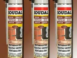 Монтажная пена Soudal 750 трубочная с выходом 45литров