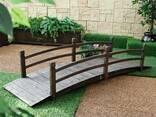 Садовый мостик из дерева - фото 7