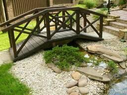 Садовый мостик из дерева. Мостик из дерева. Деревянный мостик