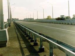 Мостовые ограждения 11МО-2, 11МО-4 одностороннее оцинкованное