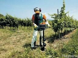 Бурение ям под посадку винограда, кустарников, деревьев.