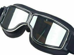 Мотоциклетные винтажные очки Тонированный белый