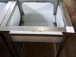 Мойка 1 секция с бортом из нержавеющей стали (AISI 201)