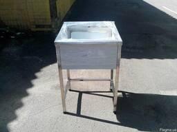 Мойка для кухни одинарная 60х60х85