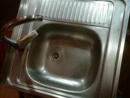 Мойка кухонная. квадратная, б. у.