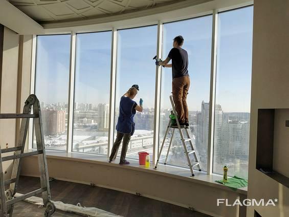 Мойка окон, лоджий, балконов