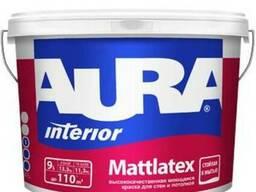 Моющаяся краска для стен и потолков Aura Mattlatex 9л