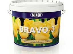 Моющаяся краска для стен Mixon Bravo-3. 5 л