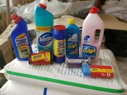 Моющие средства (комет, гала, мусорние пакеты, доместо,крот)