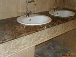 Мрамор гранит кухни кухонная мебель дизайн плитка - фото 4