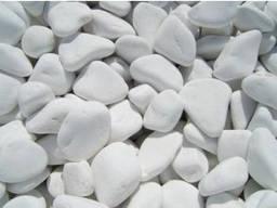 Мраморная галька белая, 10-20, 20-40, 40-80мм