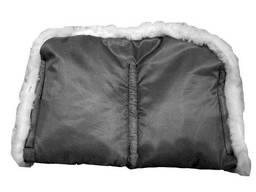 Муфта меховая для рук на санки, коляски черный