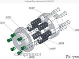 Муфта полумуфта в сборе на компрессор ПКС-5, 25