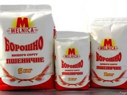 Мука пшеничная в/с фасованая 1кг, 2 кг и 5кг