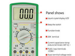 Мультиметр Bakku BK-9205B Измерения: V, A, R
