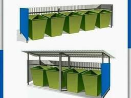 Мусорная контейнерная площадка для баков и контейнеров с ТБО