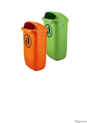 Мусорное ведро уличное пластиковое 50 литров