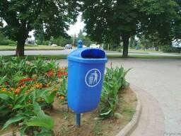 Мусорное ведро уличное пластиковое 50 литров - фото 2