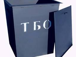 Мусорный бак металлический. Железный контейнер для сбора и вывоза мусора (тбо отходов)