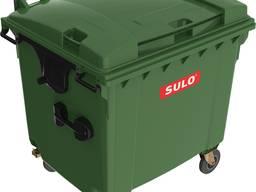 Мусорный контейнер SULO 1075 х 1370 х 1330 мм 1100 л Зеленый