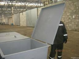 Мусорный контейнер, железный бак для мусора, ТБО, отходов - фото 7