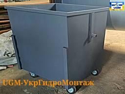 Мусорные контейнеры, евро баки 1100л для ТБО Днепр, Новомосковск, Павлоград