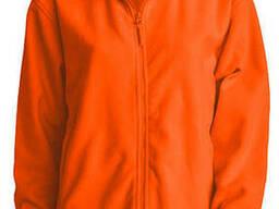Мужская флисовая куртка цвет оранжевый в наличие