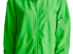 Мужская флисовая куртка цвет салатовый в наличие