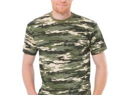 Мужская футболка, хаки хлопковая
