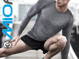 Мужская футболка с длинным рукавом MioFit Active Wear