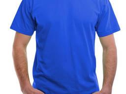 """Мужская футболка синего цвета """"Сокол"""""""