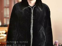 Мужская куртка, мех бобер . Индивидуальный пошив из меха бо