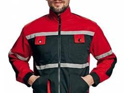 Мужская рабочая курточка красно - черная