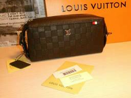 Мужская сумка клатч барсетка Louis Vuitton, кожа, Франция
