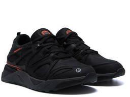 Мужские кожаные кроссовки Merrell vlbram Black (реплика)