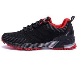 Мужские летние кроссовки сетка BS Sport System Black